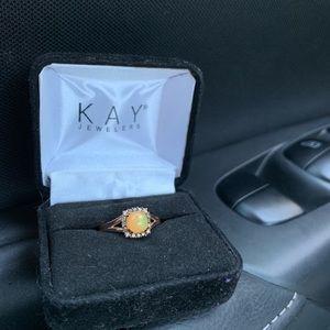 Kay Jewelers LeVian Chocolate diamond opal ring